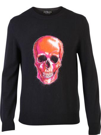 Alexander McQueen Black Skull Print Sweater