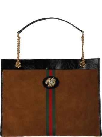 Gucci Tiger-embellished Tote