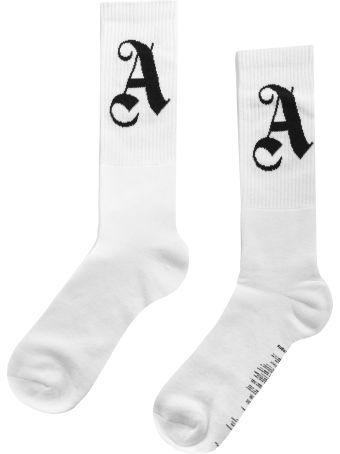 Palm Angels Intarsia Palm Angels Logo Socks