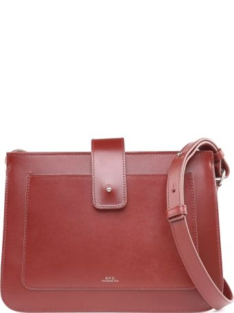 A.P.C. Albane Smooth-leather Shoulder Bag