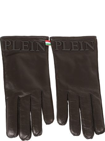 Philipp Plein Logo Plaque Gloves