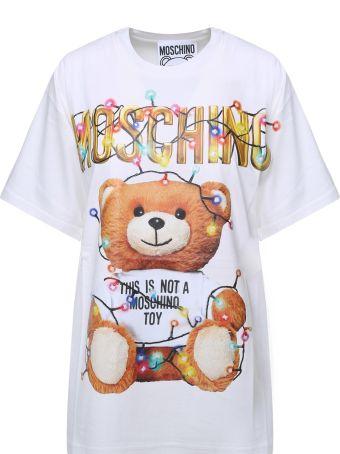 Moschino Teddy Christmas Cotton-jersey T-shirt