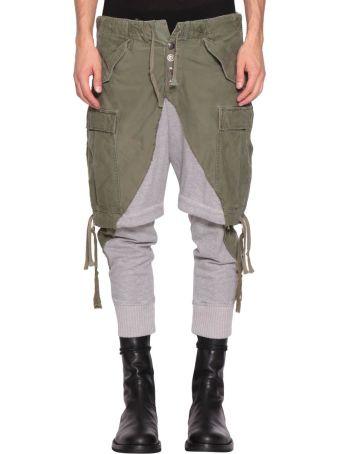 Greg Lauren Panelled Cotton Sweatpants