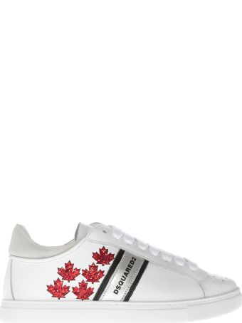 Dsquared2 Leaf Sequin Sneakers