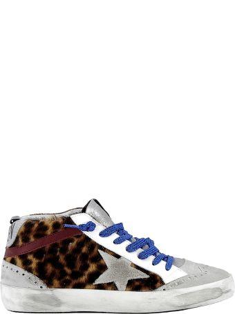 Golden Goose Leopard Pony Hair Sneakers