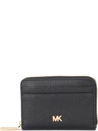 Michael Kors Black Saffiano Leather Cardholder.