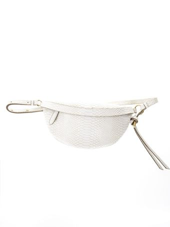 Stella McCartney Ella Ivory Snake Printed Faux Leather Belt Bag