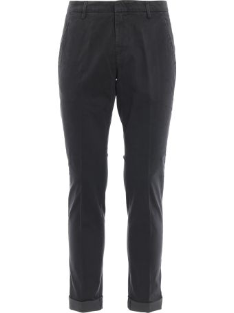 Dondup Gaubert Grey Micro Patterned Cotton Trousers