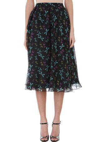 Rochas Dragonfly Print Full Skirt