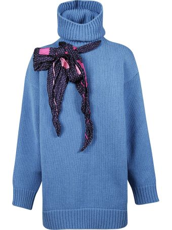 Balenciaga Lace-up Bow Sweater