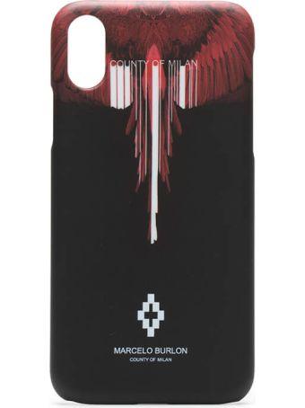 Marcelo Burlon Iphone X Wings Barcode Case