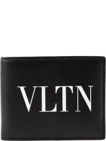 Valentino Garavani Vltn Logo Print Billfold Money Clip Wallet