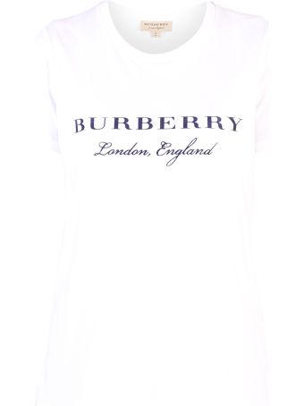 Burberry White Branded T-shirt