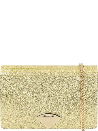 Michael Kors Barbara Gold Glitter Envelope Bag