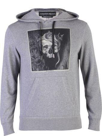 Alexander McQueen Grey Printed Sweatshirt