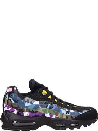 Nike Air Max 95 Erdl Black And Multicolor Fabric Sneakers