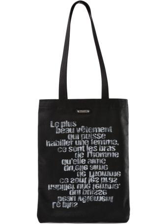 Saint Laurent Ysl Flat Shopping Bag Printed Logo
