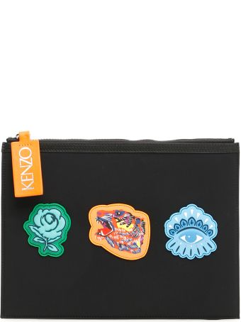 Kenzo Unisex Pouch With Patches