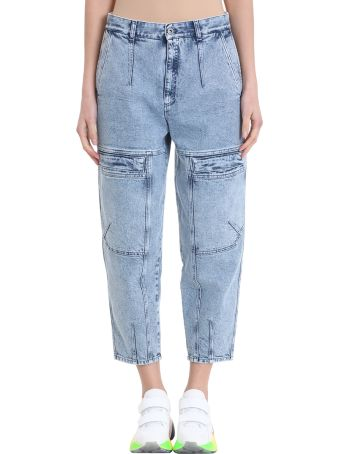 Stella McCartney Leane Cargo Blue Washed 80 Style Jeans