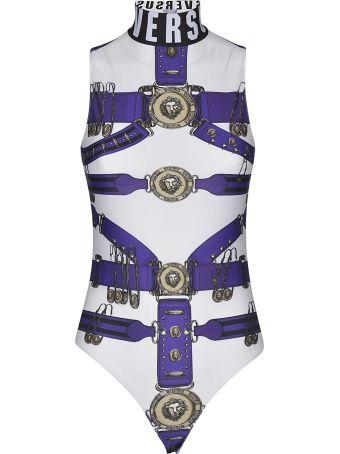 Versus Versace Heritage Belt Print Bodysuit