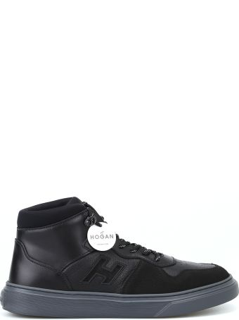 Hogan H365 Black Basket Hi-top Sneakers