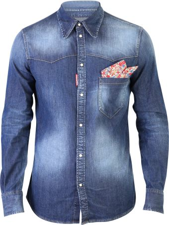 Dsquared2 Blue Faded Shirt