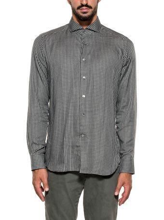 Bagutta Black/grigio Bsiena Checked Shirt