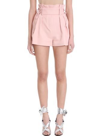 IRO Lalora Pink Cotton And Linen Shorts