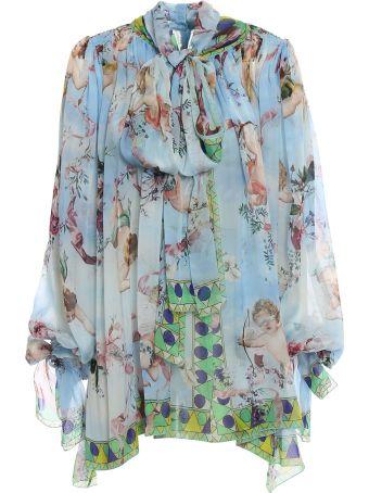 Dolce & Gabbana Chiffon Printed Bluse