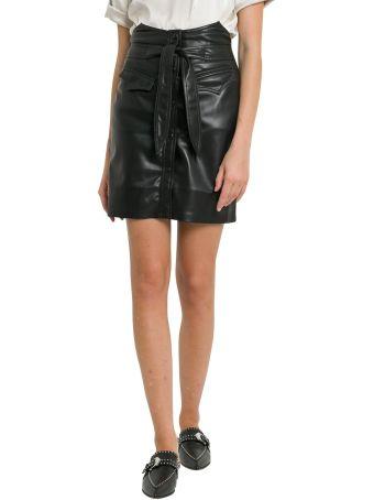 Nanushka Vegan Leather Skirt With Belt