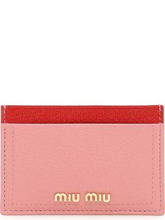 Miu Miu Bicolor Madras Cardholder