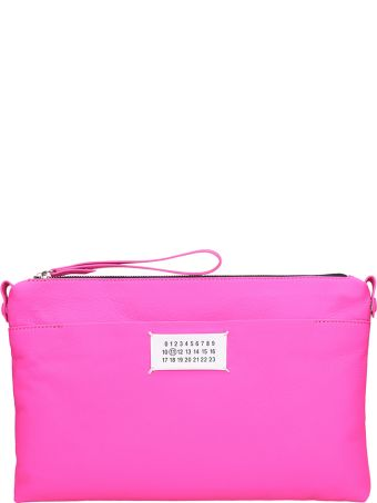 Maison Margiela Zipped Pouch Pink Leather Bag