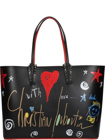 Christian Louboutin Loubitag Black Cabata Bag