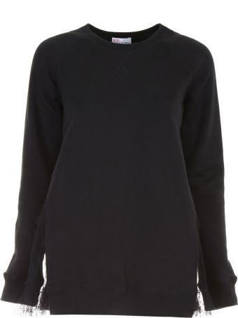 Sweatshirt With Lace Insert