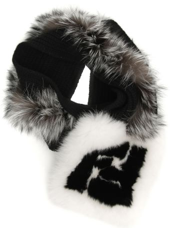 Fendi Ff Scarf With Fox Fur