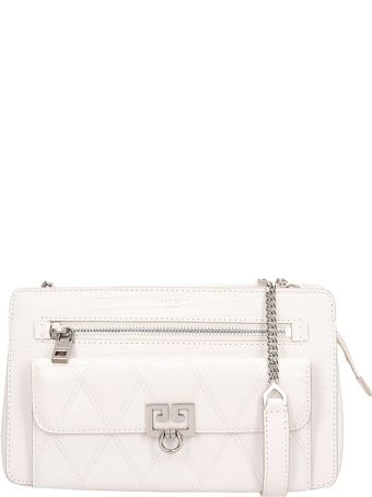 Givenchy Pocket-xbody Bag In White Quilted Leather