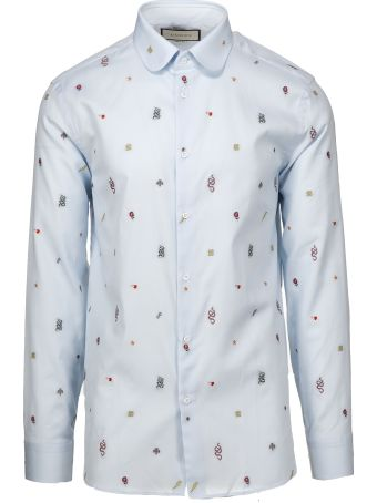 Gucci Embroidered Motif Shirt