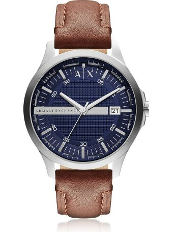 Armani Collezioni Armani Exchange Hampton Brown Leather Men's Watch