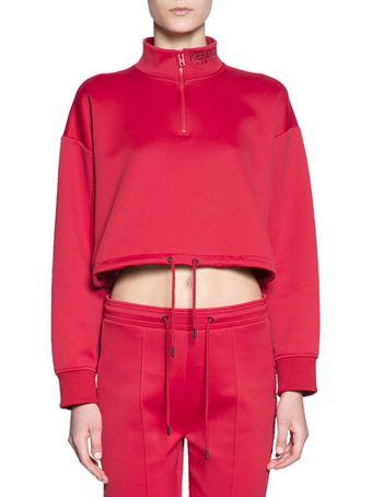 Kenzo Cotton Cropped Sweatshirt