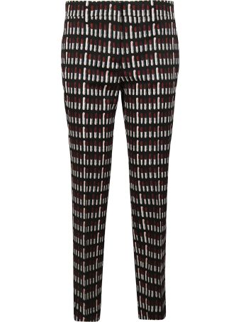 Prada Cropped Printed Trousers