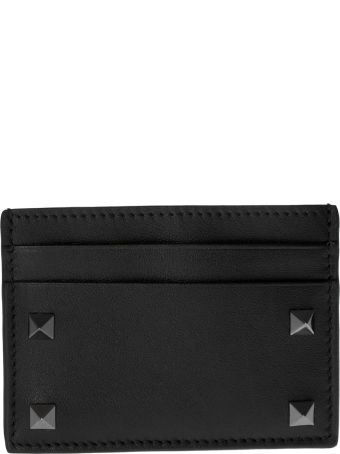 Valentino Studded Detail Card Case