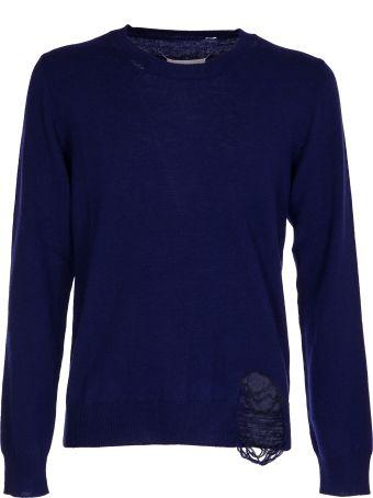 Maison Margiela Distressed  Fitted Sweatshirt