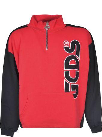 GCDS Logo Zipped Up Sweatshirt