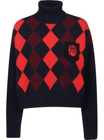 Miu Miu Cropped Rolled Neck Sweater