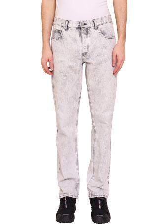 Martine Rose Bleached Cotton Denim Jeans
