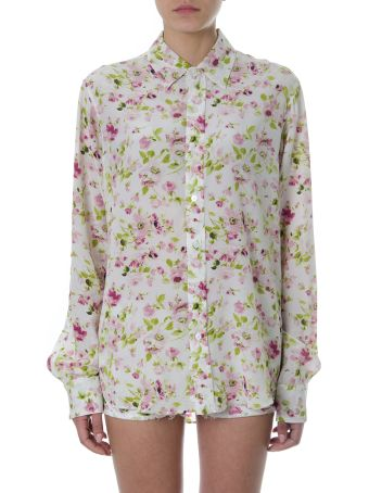 Faith Connexion Floral Print Multicolor Silk Shirt