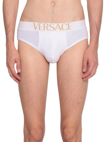 Versace Logo Cotton Jersey Briefs