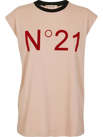 Pink logo-embroidered t-shirt N°21 Cheapest 5b7SiAgz