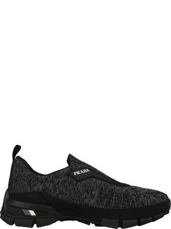 Prada Knitted Slip-on Sneakers