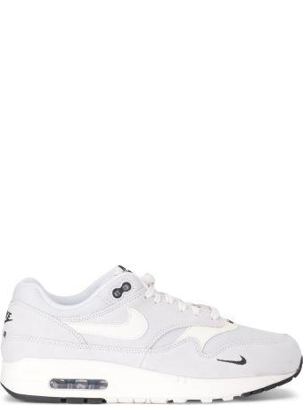 Nike Air Max 1 Premium Grey Suede And Fabric Sneaker